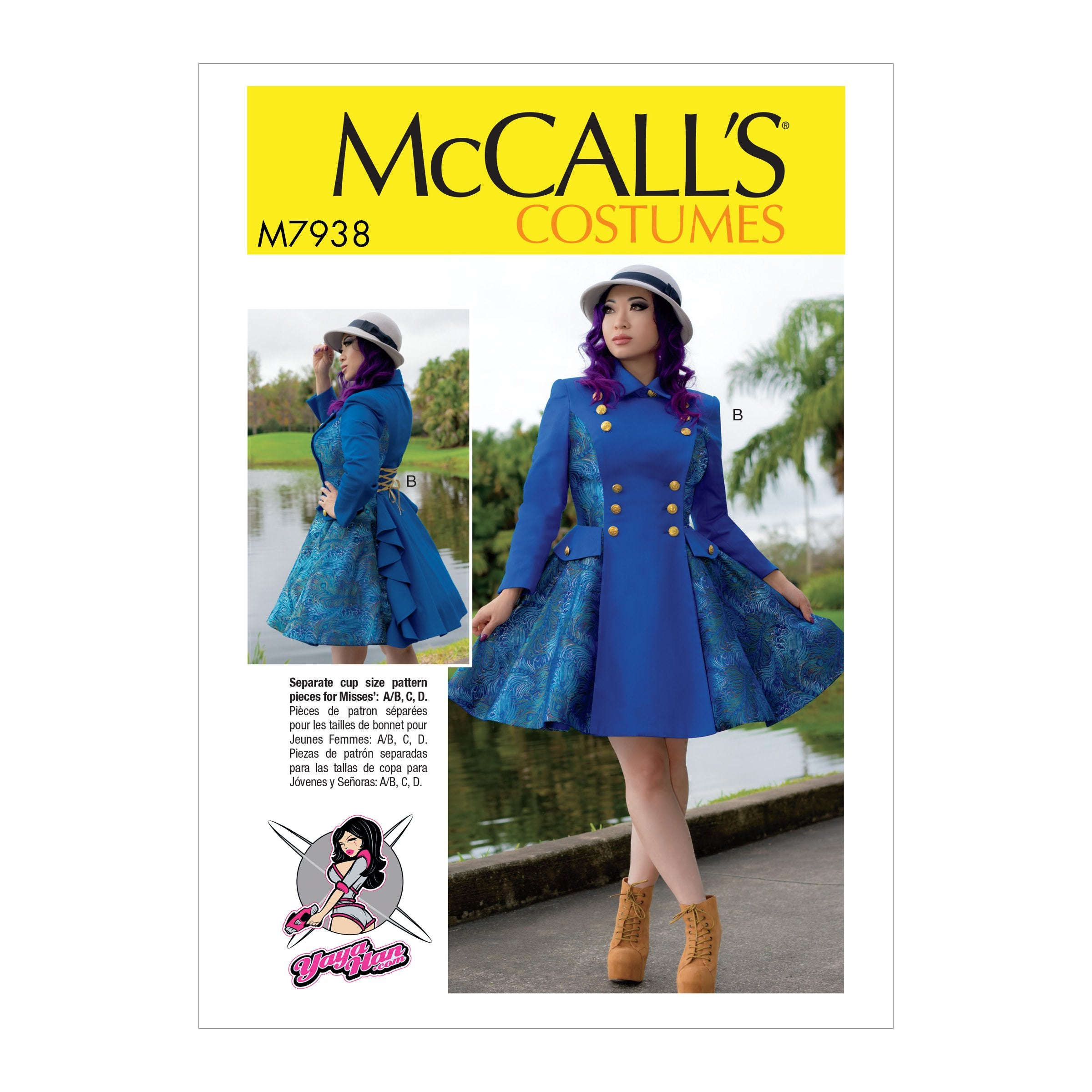 McCall's 7938 Misses' Costume pattern