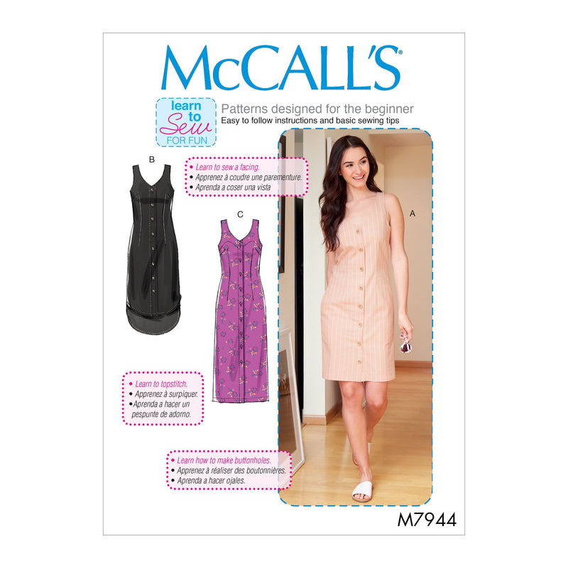 McCalls 7944 Misses'/Women's Dresses sewing pattern from Jaycotts Sewing Supplies