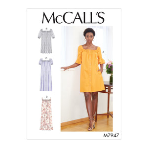 McCalls 7947 Dresses sewing pattern from Jaycotts Sewing Supplies