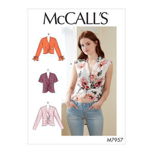 McCalls 7957 Tops sewing pattern from Jaycotts Sewing Supplies