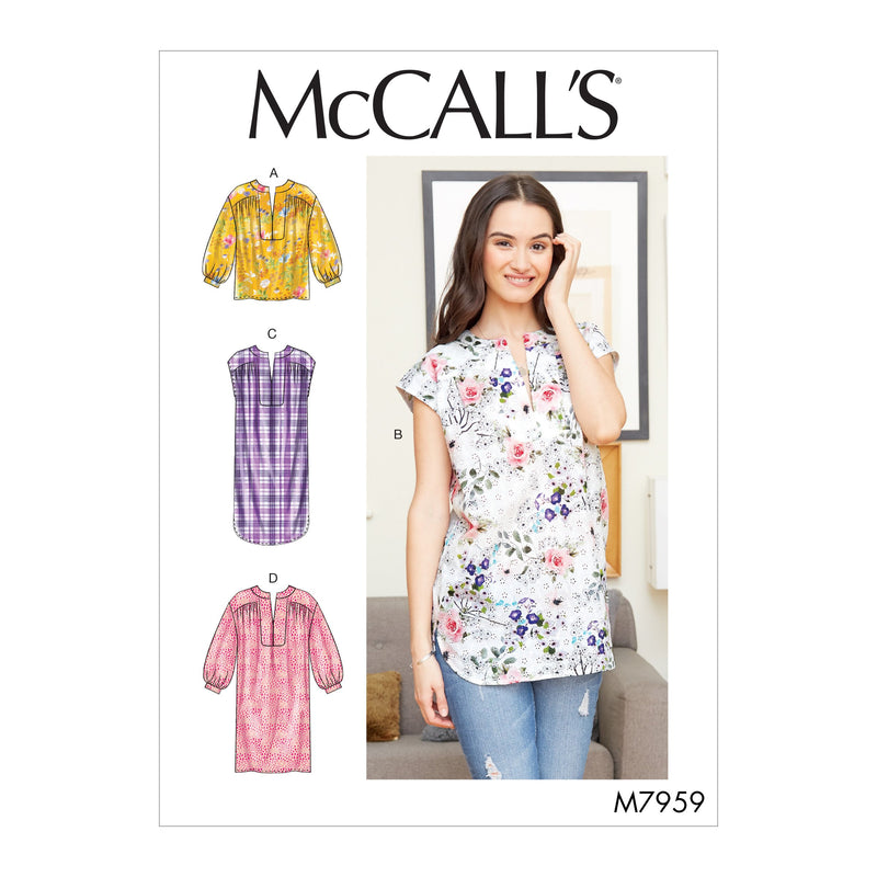 McCalls 7959 Top, Tunic and Dresses sewing pattern