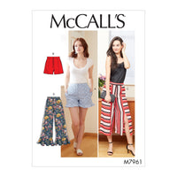 McCalls 7961 Shorts and Pants sewing pattern from Jaycotts Sewing Supplies