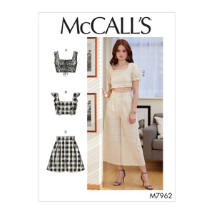 McCalls 7962 Tops, Shorts and Pants sewing pattern
