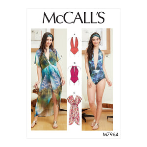 McCalls 7964 Swimsuit and Cover-Up sewing pattern from Jaycotts Sewing Supplies