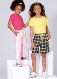 McCalls 7966 Girls' Shorts and Pants sewing pattern