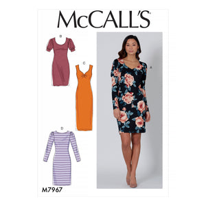 McCalls 7967 Dresses sewing pattern