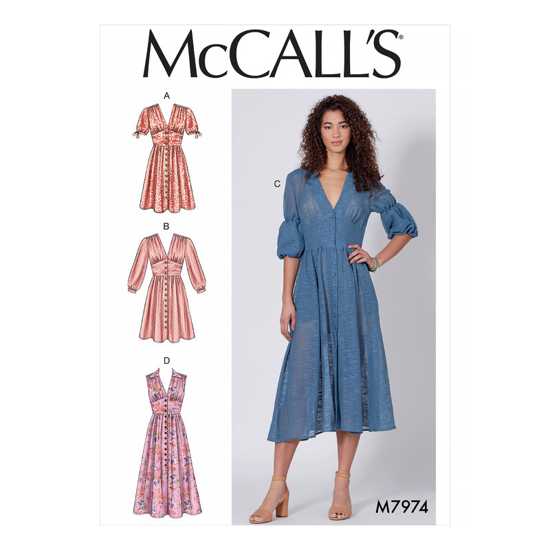 McCalls 7974 Dresses sewing pattern