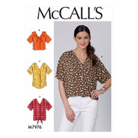 McCalls 7976 Tops sewing pattern from Jaycotts Sewing Supplies
