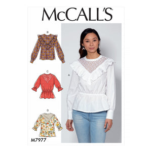 McCalls 7977 Tops sewing pattern