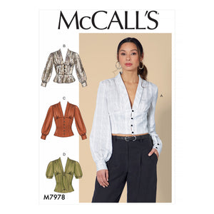 McCalls 7978 Tops sewing pattern from Jaycotts Sewing Supplies