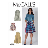 McCalls 7981 Skirts sewing pattern from Jaycotts Sewing Supplies