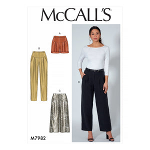 McCalls 7982 Shorts and Pants sewing pattern