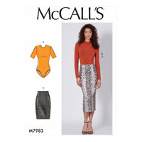 McCalls 7983 Tops and Skirts sewing pattern from Jaycotts Sewing Supplies