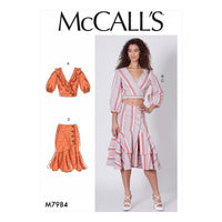 McCalls 7984 Tops and Skirts sewing pattern
