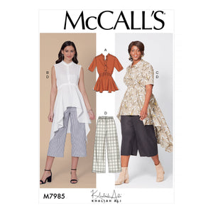 McCalls 7985 Misses' / Women's Top, Tunics, and Pants sewing pattern from Jaycotts Sewing Supplies