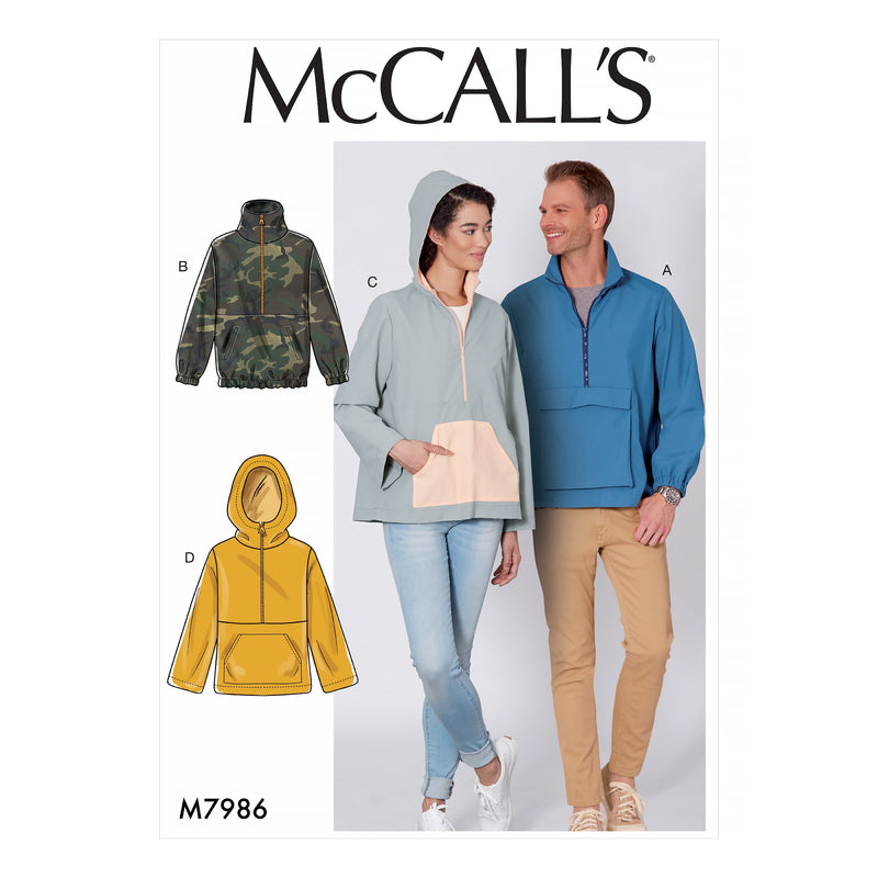 McCalls 7986 Misses' and Men's Jackets pattern from Jaycotts Sewing Supplies