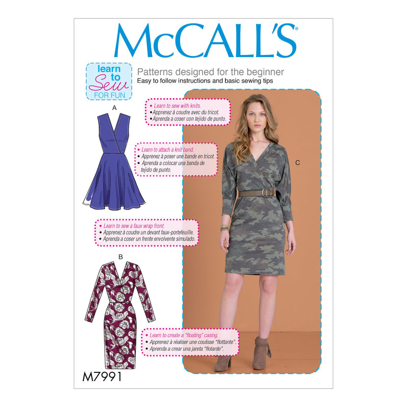 McCall's Sewing Pattern 7991 Dresses from Jaycotts Sewing Supplies