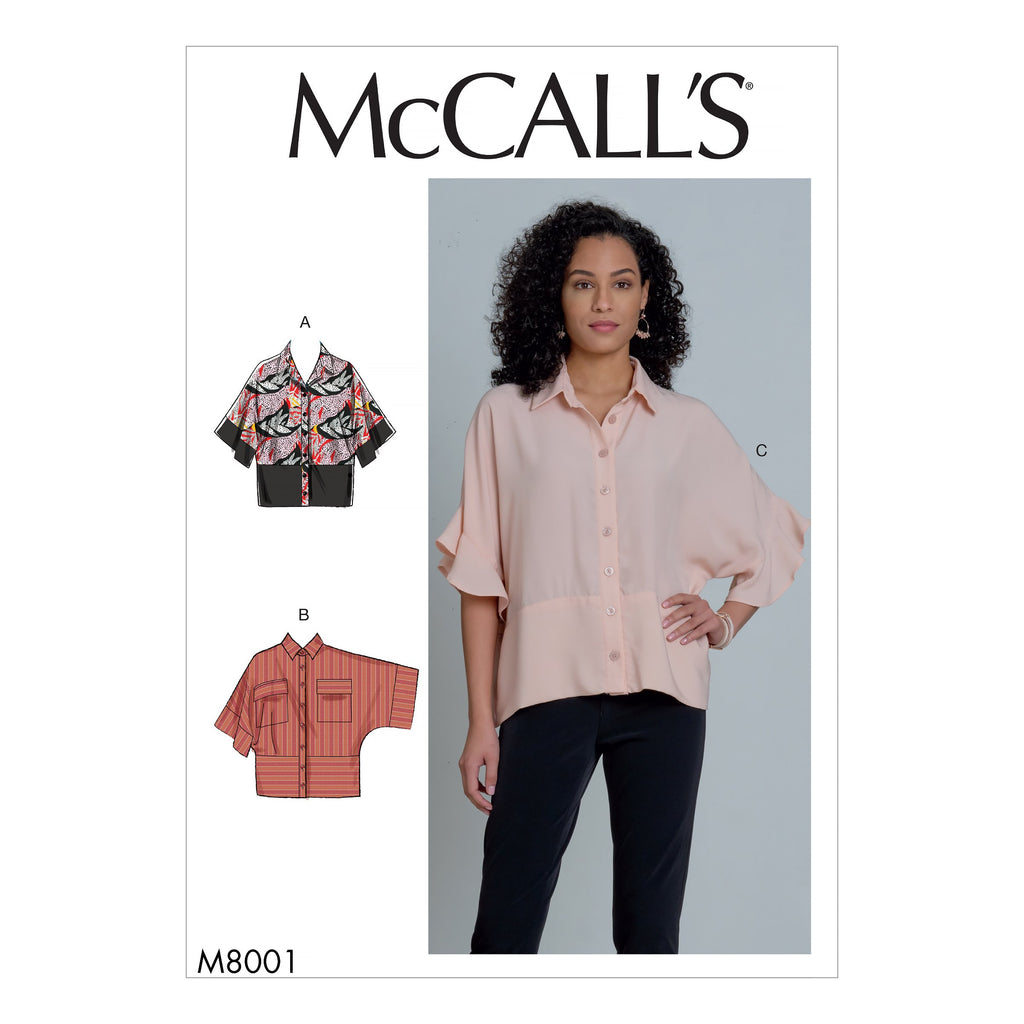 McCall's Sewing Pattern 8001 Blouses