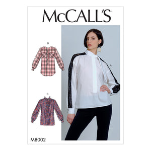 McCall's Sewing Pattern 8002 Blouses from Jaycotts Sewing Supplies