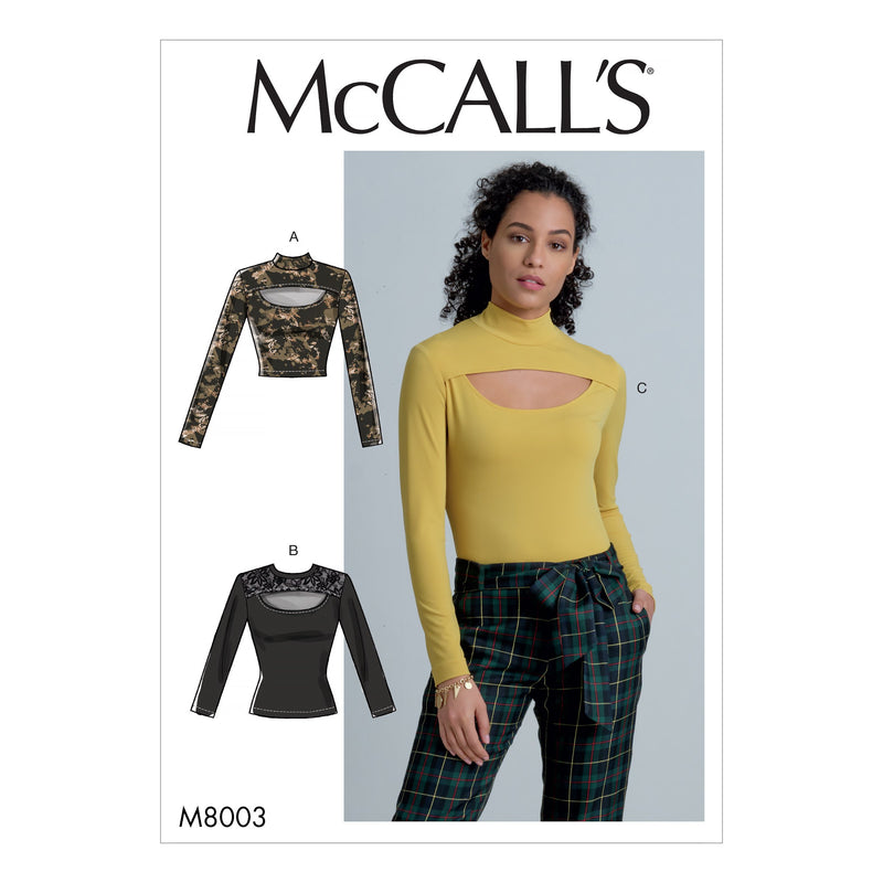 McCall's Sewing Pattern 8003 Tops