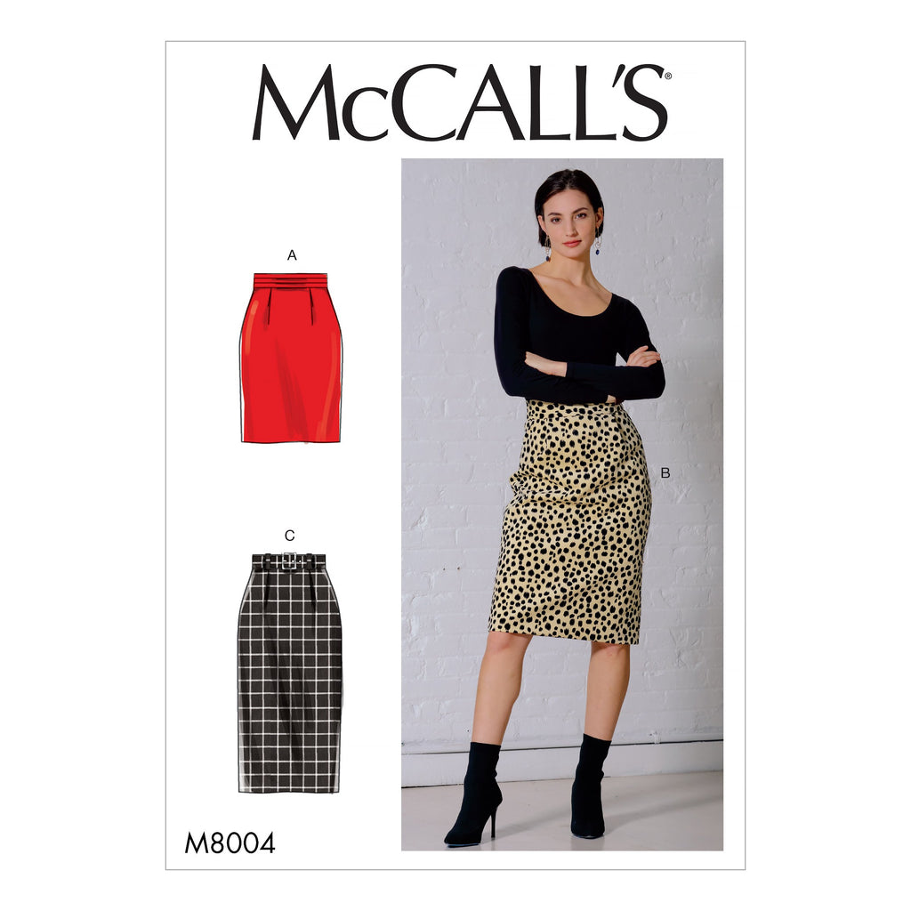 McCall's Sewing Pattern 8004 Skirt and Belt