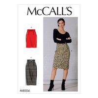 McCall's Sewing Pattern 8004 Skirt and Belt from Jaycotts Sewing Supplies