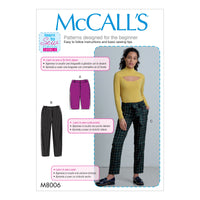 McCall's Sewing Pattern 8006 Shorts, Pants and Sash from Jaycotts Sewing Supplies