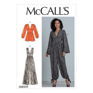 McCall's Sewing Pattern 8009 Romper and Jumpsuits from Jaycotts Sewing Supplies