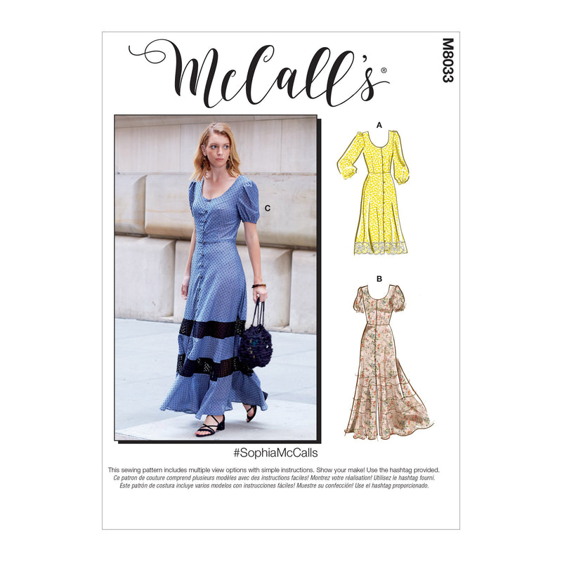 McCall's pattern 8033 Dresses from Jaycotts Sewing Supplies