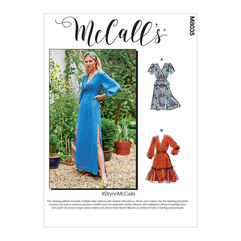 McCall's pattern 8035 Dresses from Jaycotts Sewing Supplies