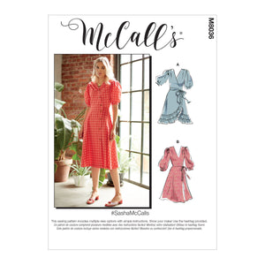 McCall's pattern 8036 Dresses and Sash from Jaycotts Sewing Supplies