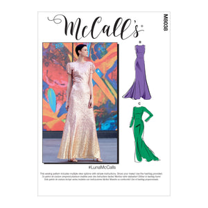 McCall's pattern 8038 Special Occasion Dresses from Jaycotts Sewing Supplies