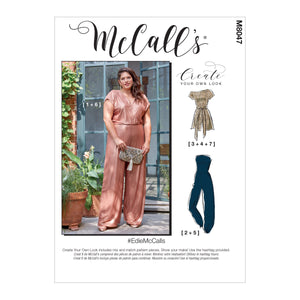 McCall's pattern 8047 Romper, Jumpsuit and Sash