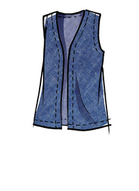 McCall's pattern 8050 Unlined Vests In Two Lengths