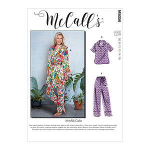 McCall's pattern 8056 Robe, Belt, Tops, Shorts and Pants from Jaycotts Sewing Supplies