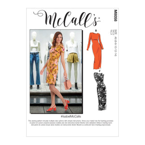 McCall's pattern 8058 Knit Pullover Dresses