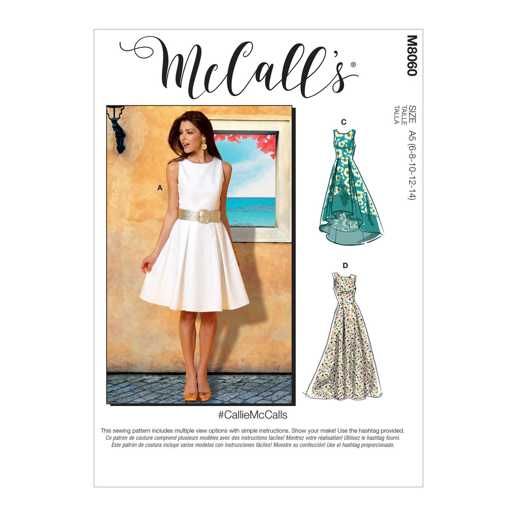 McCall's pattern 8060 Pleated-Skirt Dresses from Jaycotts Sewing Supplies