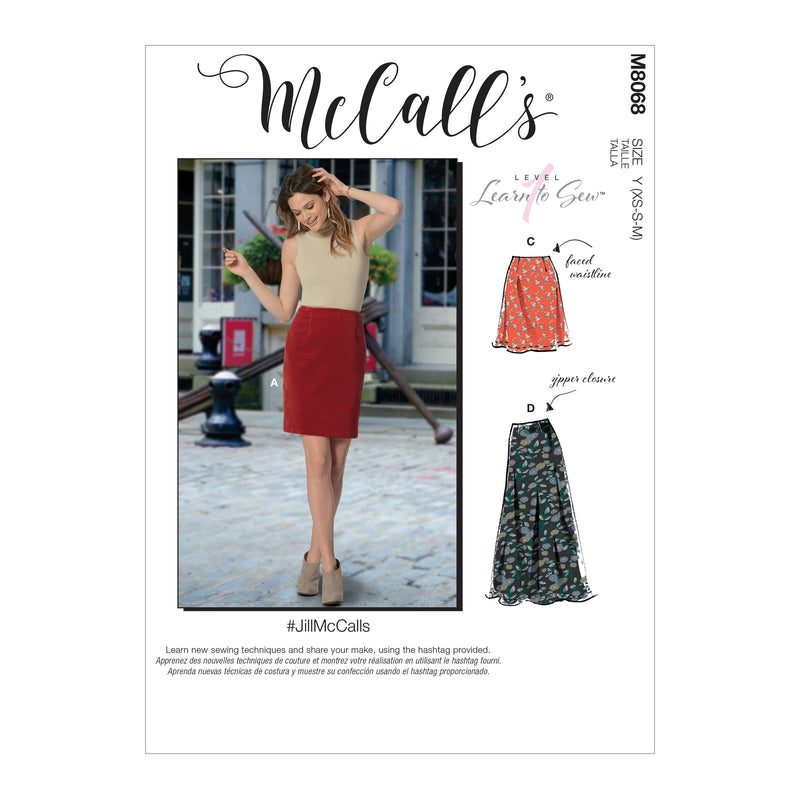 McCall's pattern 8068 Skirts in Three Lengths from Jaycotts Sewing Supplies