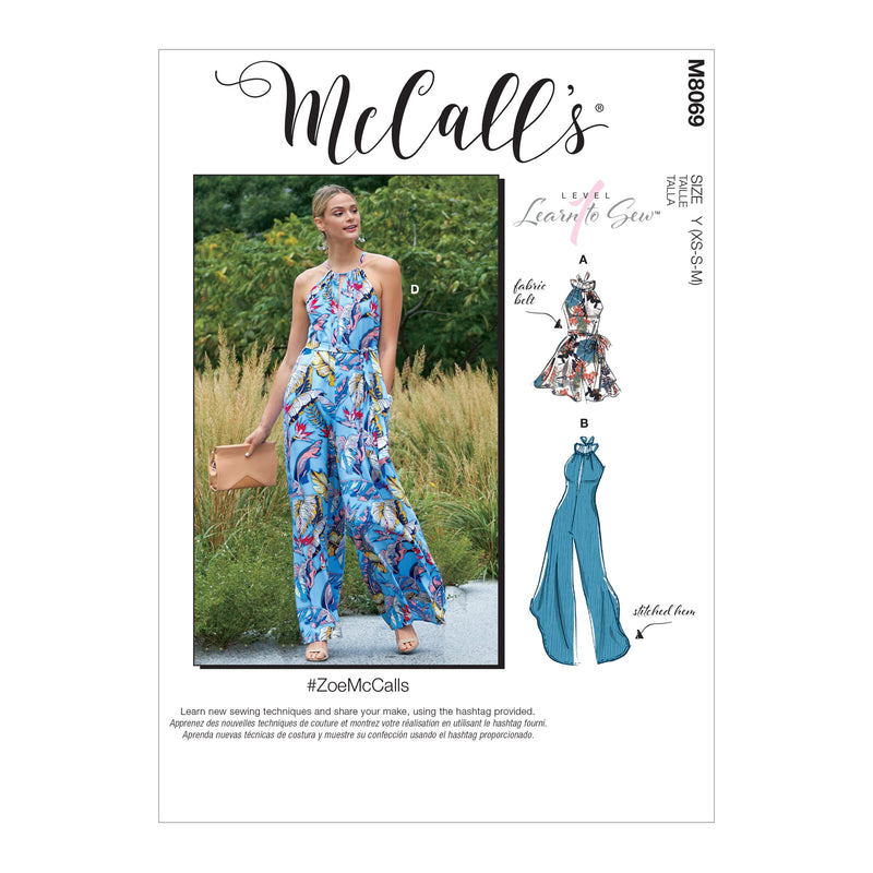 McCall's pattern 8069 Romper, Jumpsuits and Belt