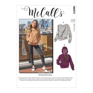 McCall's pattern 8070 Misses' and Mens Tops
