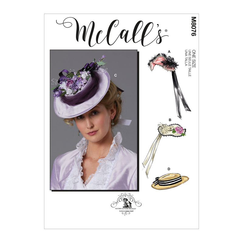 McCall's 8076 Historical Hats sewing pattern from Jaycotts Sewing Supplies