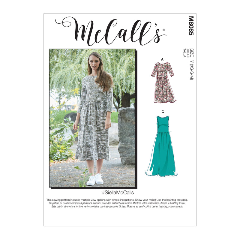 McCall's 8085 Dresses sewing pattern #SiellaMcCalls