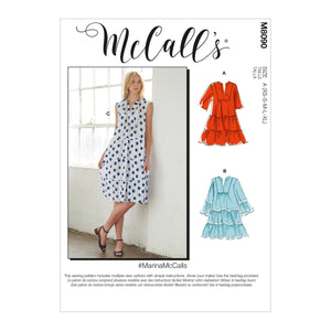 McCall's 8090 Dresses and Belt sewing pattern #MarinaMcCalls from Jaycotts Sewing Supplies