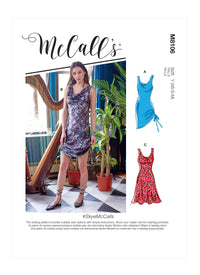 McCall's 8106 Dresses sewing pattern #SkyeMcCalls from Jaycotts Sewing Supplies