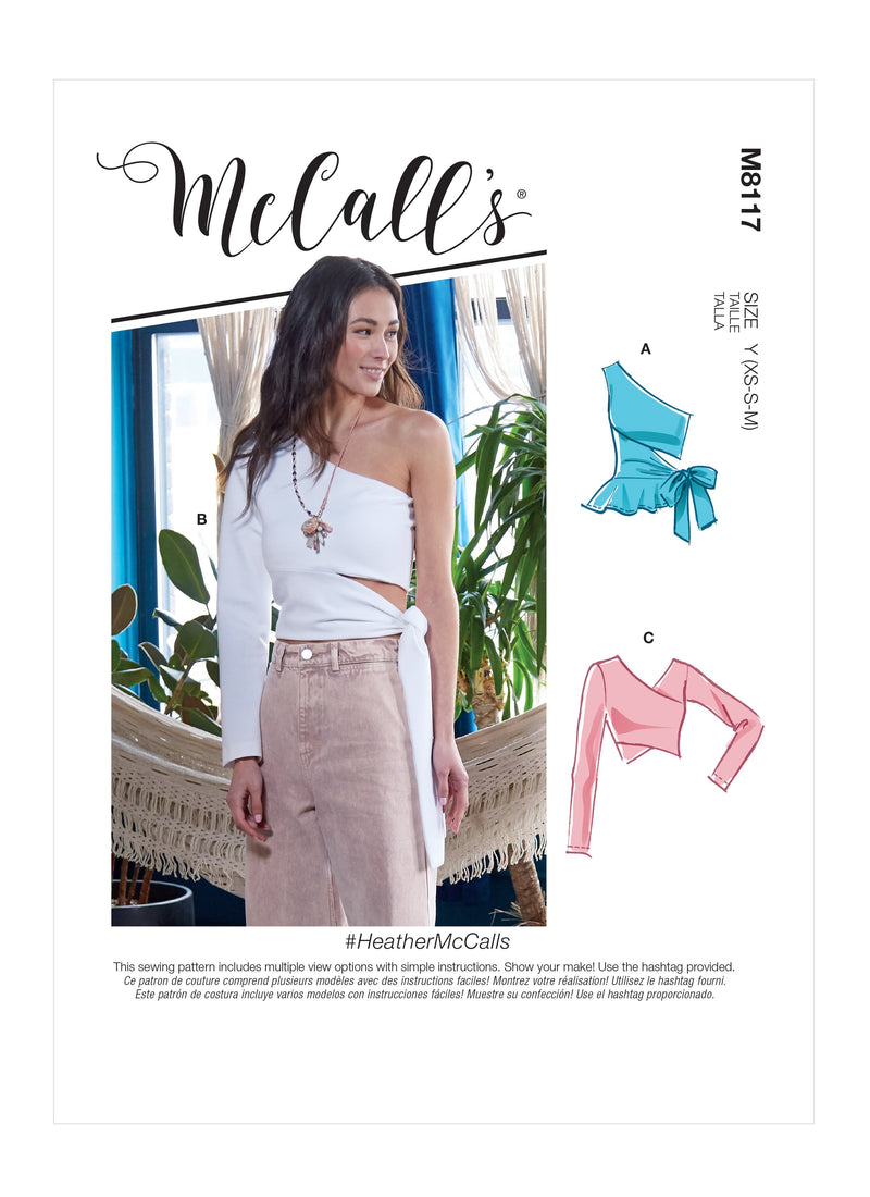 McCall's 8117 Tops sewing pattern #HeatherMcCalls from Jaycotts Sewing Supplies