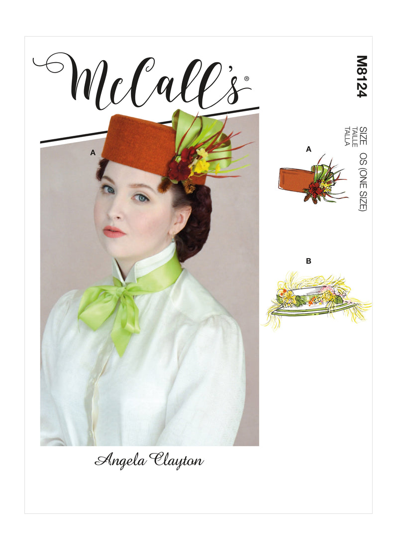 McCall's 8124 COSTUME pattern | Misses' Historical Hats from Jaycotts Sewing Supplies