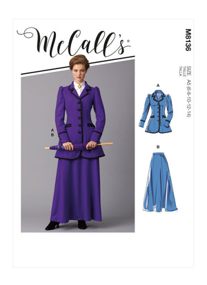 McCall's 8136 Sewing pattern | Misses' Costume from Jaycotts Sewing Supplies