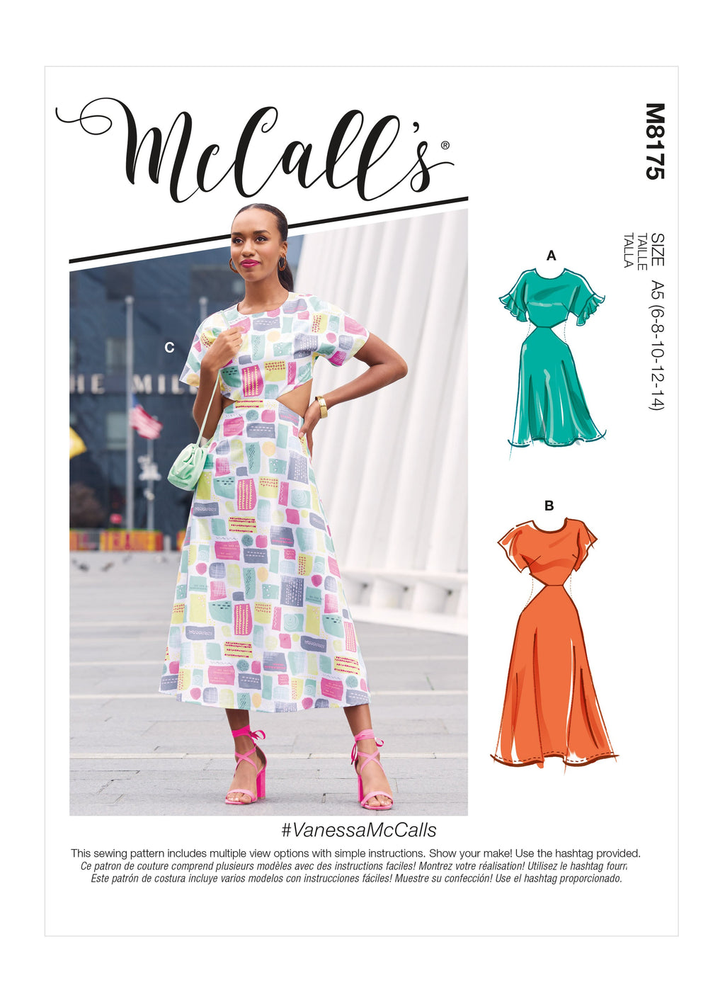 McCalls Sewing Pattern 8175 Misses' Dresses from Jaycotts Sewing Supplies