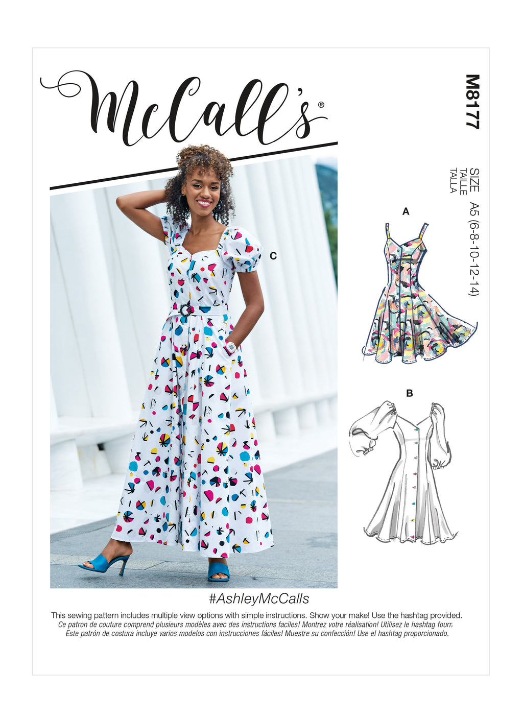 McCalls Sewing Pattern 8177 Misses' Dresses and Belt from Jaycotts Sewing Supplies