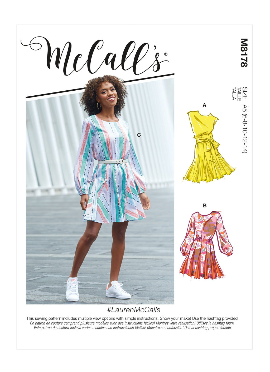 McCalls Sewing Pattern 8178 Misses' Dresses and Belt from Jaycotts Sewing Supplies